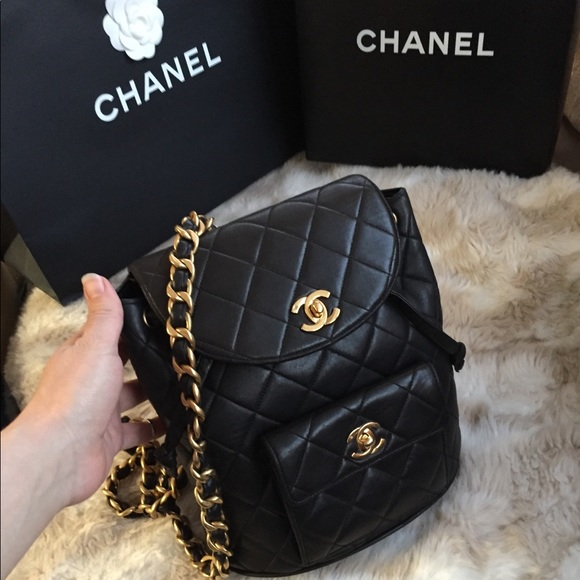 66aae1b1 Chanel Vintage mini Backpack Quilted Lambskin